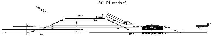 Bahnhofsgleise von Stumsdorf. Die Mehrheit der nicht mehr genutzten Gleise sollen nach Planungen der DB Netz verschwinden.